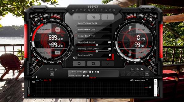 MSI Afterburner لكسر سرعة كارت الشاشة