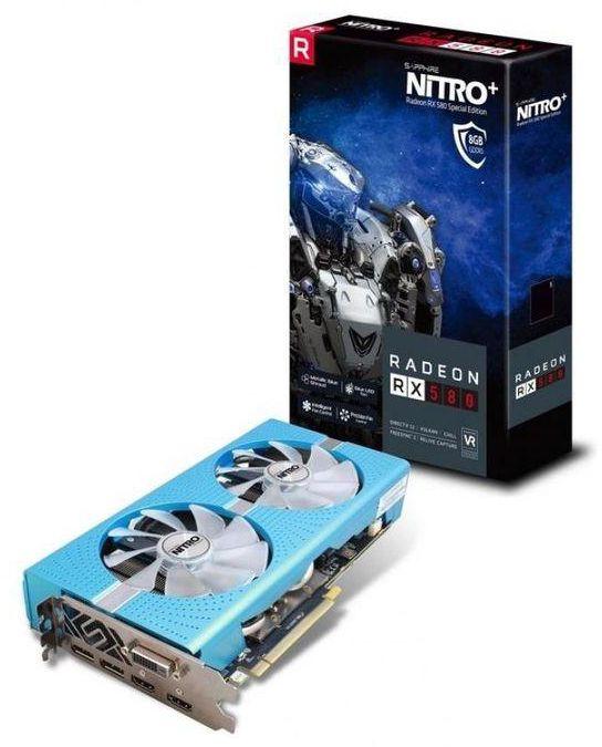 كارت شاشة RX 580 8GB DDR5 من شركة Sapphire نسخة Special Edition (مستعمل)