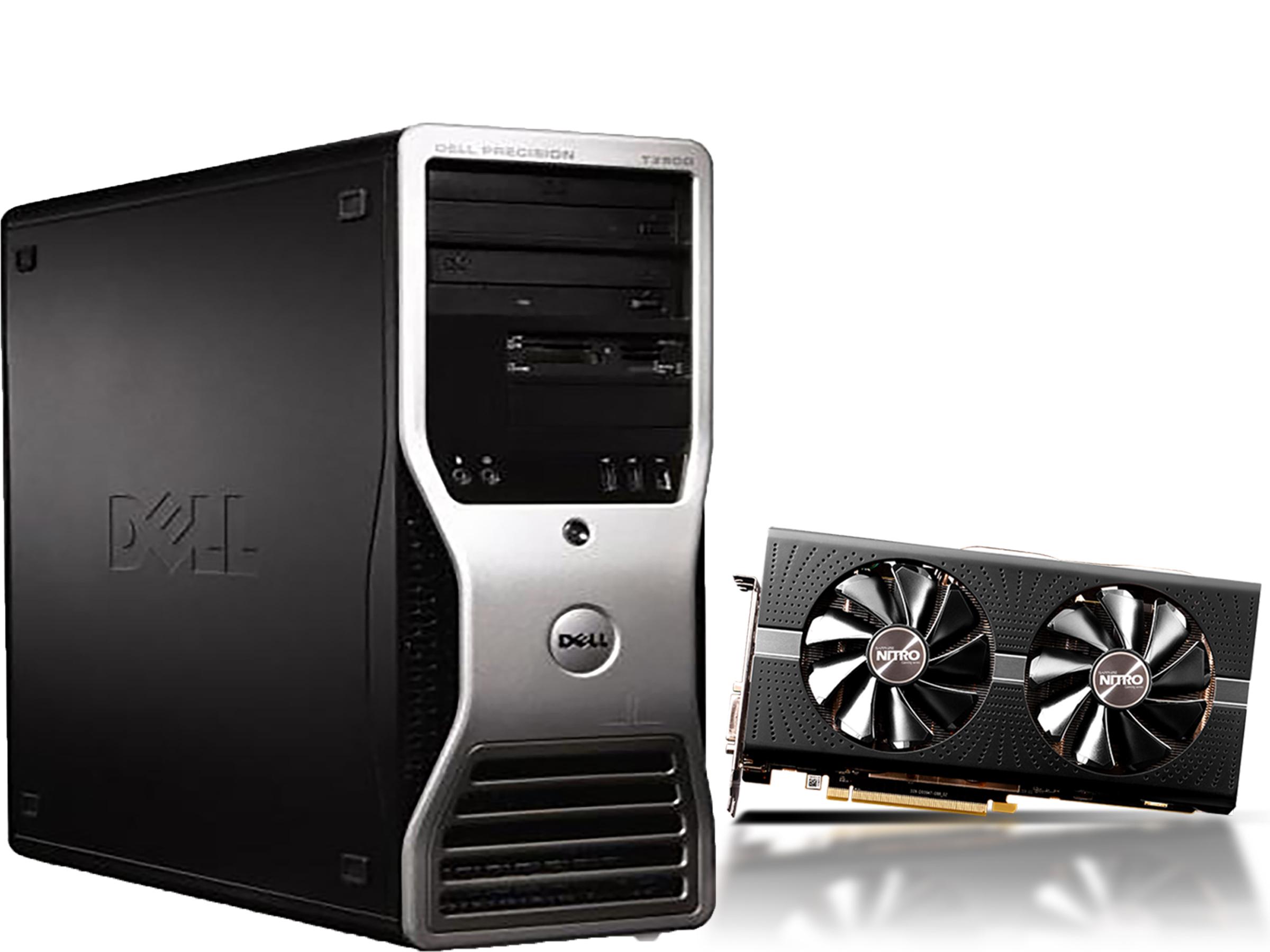 DELL T3500 - معالج Xeon W5590 - كارت RX 580 4GB Sapphire Nitro
