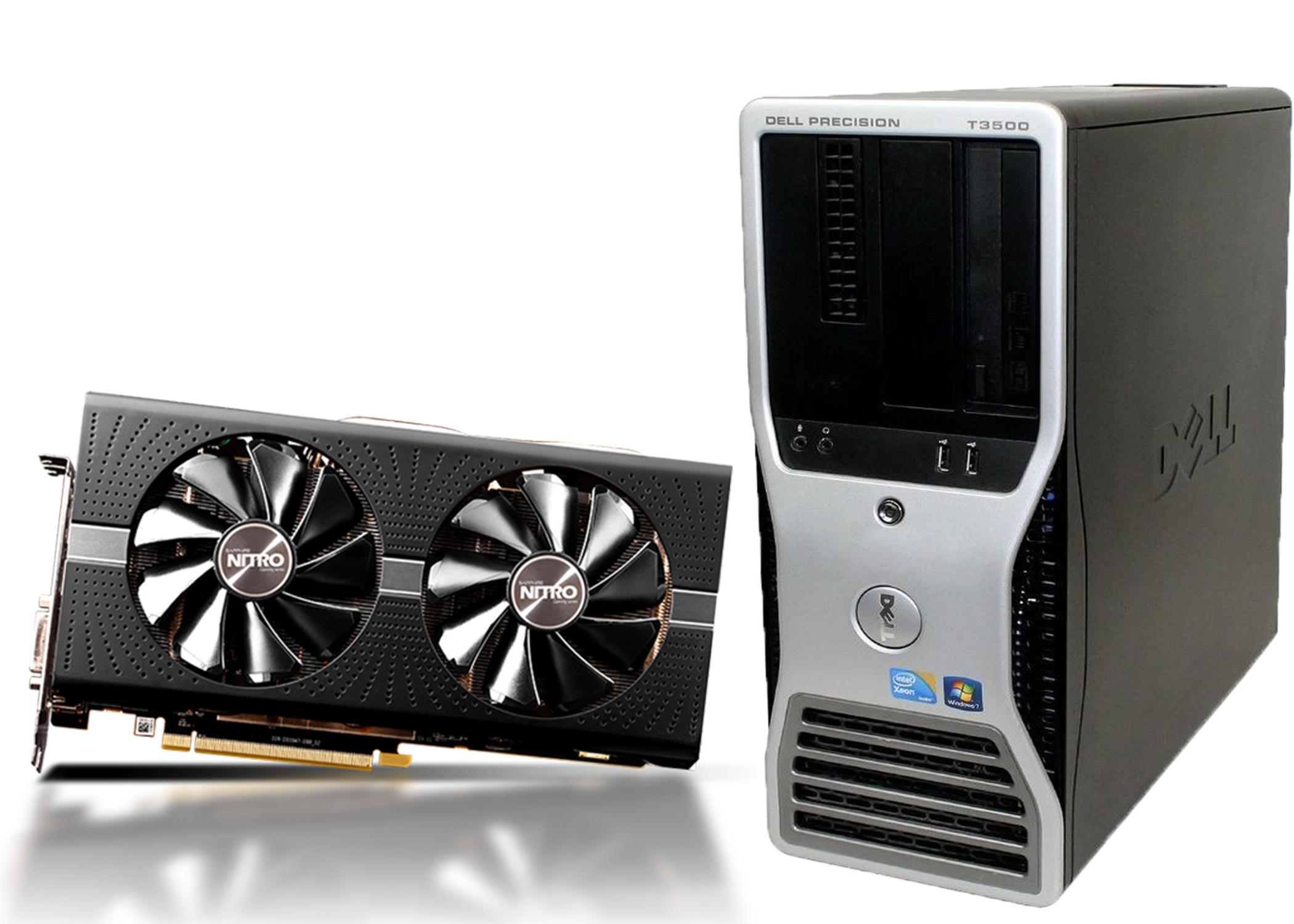 DELL T3500 أقوى كيسة وورك ستيشن للألعاب و البرامج - كارت RX 580 - هاردين - رام 16 جيجا